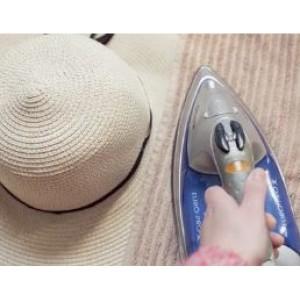 Если помялась соломенная шляпа