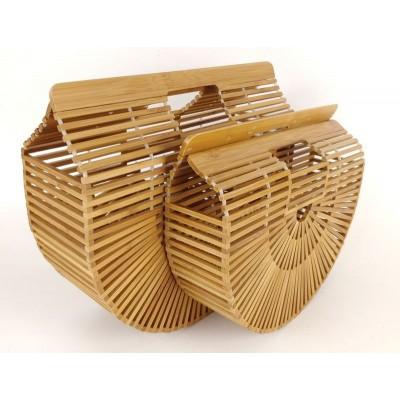 Деревянная объемная сумка-корзинка, маленькая