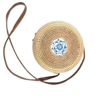 Деревянная круглая сумка