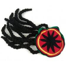 Растаманская шапка с дредами
