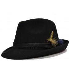 Тирольская фетровая шляпа с пером