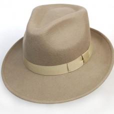 Шляпа HarrisWool бежевая