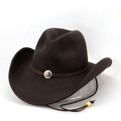 Коричневая ковбойская фетровая шляпа Брэнсон