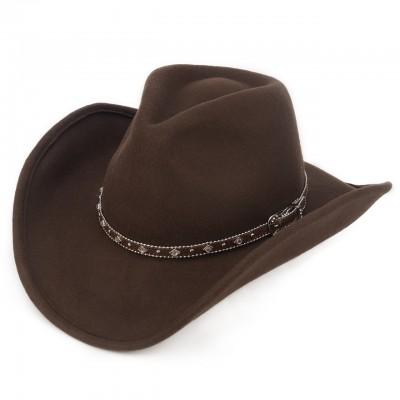 Коричневая шляпа Техас с большими полями