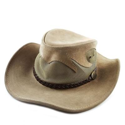 Ковбойская шляпа из натуральной кожи