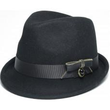 Шляпа федора, черная