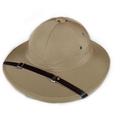 Шлем сафари кремовый из пробки