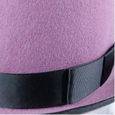 Розовый Цилиндр из натурального фетра