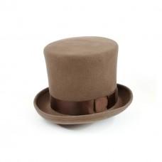 Шляпа Цилиндр, коричневая