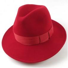 Шляпа федора Бедж красная