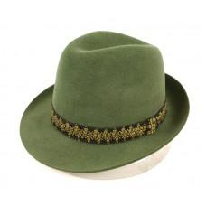 Зеленая классическая федора