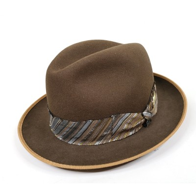 Коричневая шляпа Tonak
