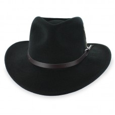 Черная шляпа Western Outback Hat Crushable