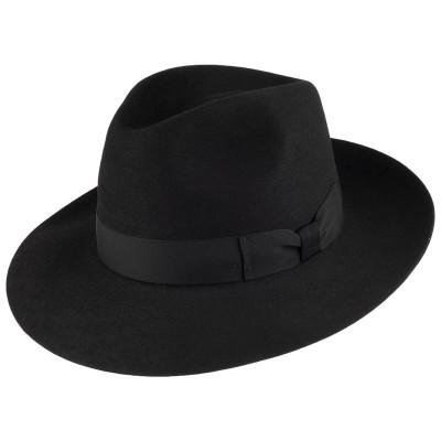 Шляпа Федора Pico Fur Felt Fedora - Black