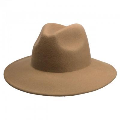 Бежевая шляпа Meeker Fedora из фетра