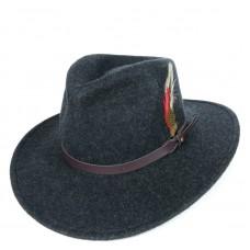 Шляпа меланж Outback с большими полями