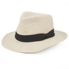 Шляпа белый меланж Devers Fedora