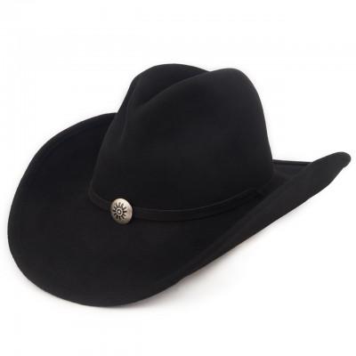 Черная ковбойская фетровая шляпа