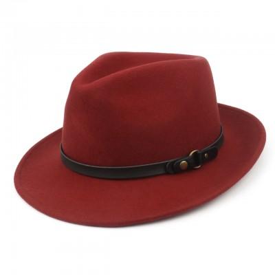 Шляпа Aztec Fedora багровая