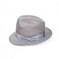 Серая льняная шляпа