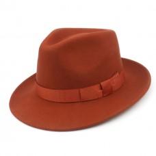 Шляпа HarrisWool оранжевая