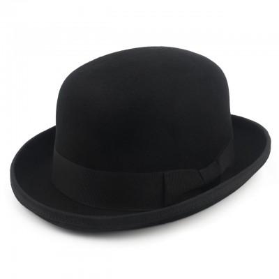 Шляпа котелок черная с подкладкой