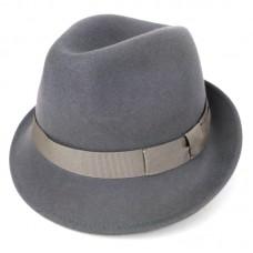 Серая шляпа Трилби с узкими полями