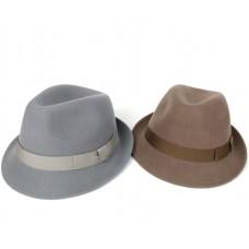 Коричневая шляпа Трилби с узкими полями