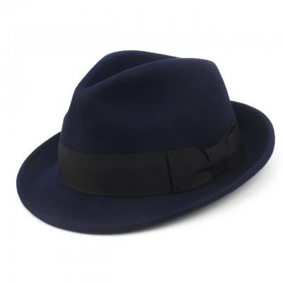 Синяя шляпа из Австралийской шерсти
