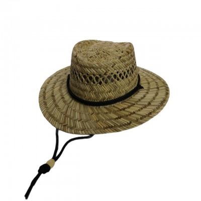 Шляпа Гамблер из соломы с завязками