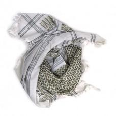 Платок афганский белый с узором