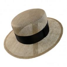 Шляпа канотье из синамей