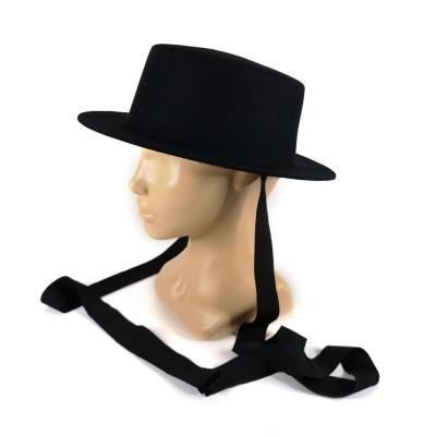 Фетровая шляпа канотье маленькие поля