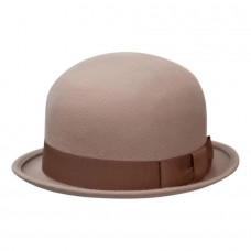 Шляпа котелок бежевый