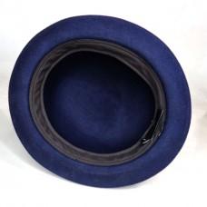 Шляпа котелок темно-синяя
