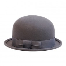 Шляпа котелок серая