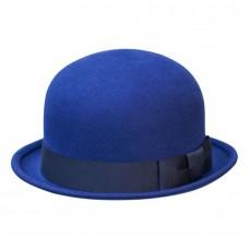 Шляпа котелок синий