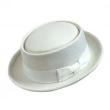 Шляпа порк-пай белая