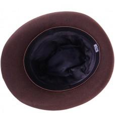 Баварская шляпа фетровая с пером коричневая