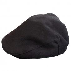 Кепка черная шерстяная