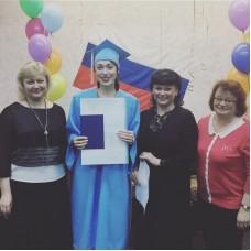 Мантия и шапочка выпускника, голубые