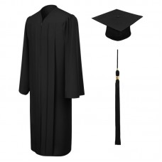 Мантия и шапочка выпускника, черная