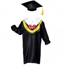 Детская накидка и шапочка выпускника черного цвета