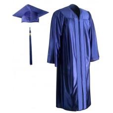 Академическая одежда темно-синяя блестящая