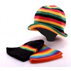 Растаманская вязаная шапка