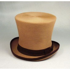 Шляпа Цилиндр, бежевая