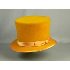 Шляпа Цилиндр, желтая
