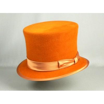 Шляпа Цилиндр, оранжевая