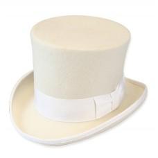 Шляпа Цилиндр, белая