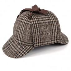 Шапка Шерлока Холмса Tweed Hat - Olive